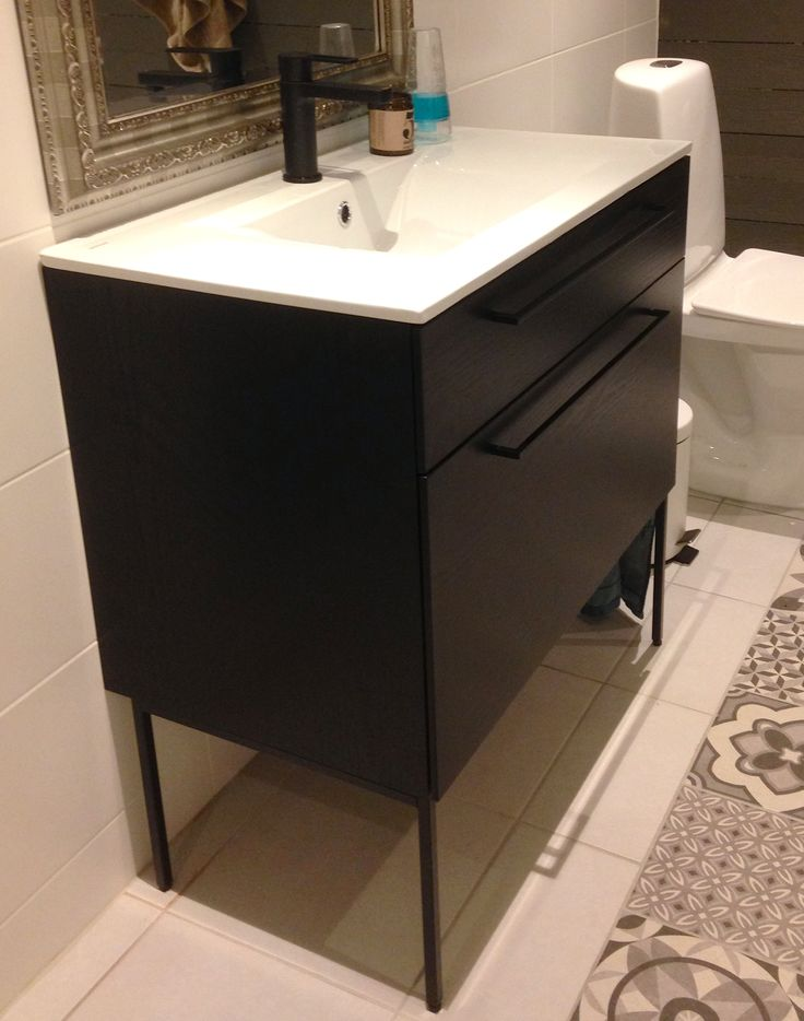 Swoon Side Vanity Unit, Storm Black Ashes. Pic from Anna.