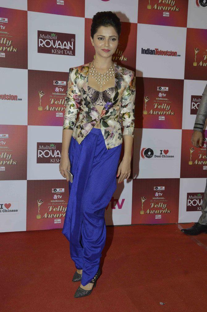 Rubina Dilaik at the Indian Telly Awards 2015. #Bollywood #Fashion #Style #Beauty #Hot