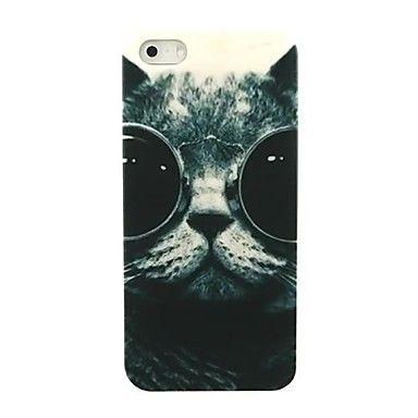 iPhone case study #14  EUR € 1.91 - lovly Cat Glasses Pattern Hard Case voor iPhone 5/5S, Gratis Verzending voor alle Gadgets!