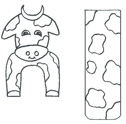 Boekenlegger koe knutselen