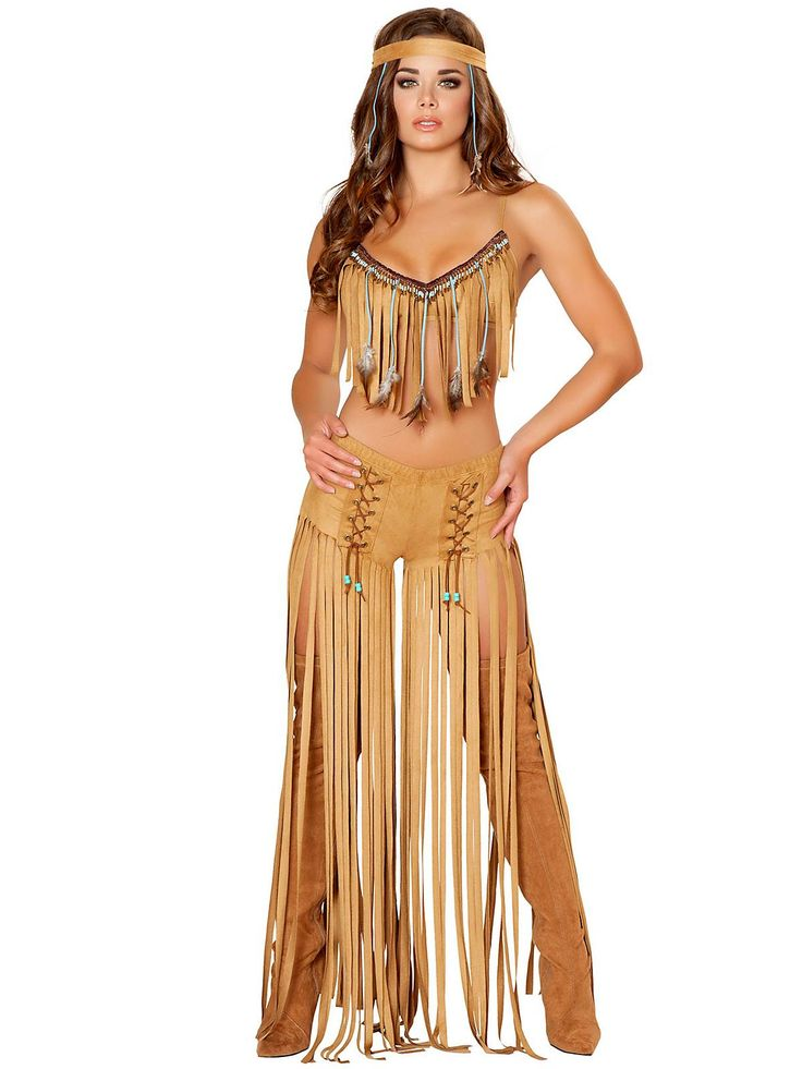 Women's Sexy Cherokee Hottie Costume | Cheap Indians Halloween for Adults