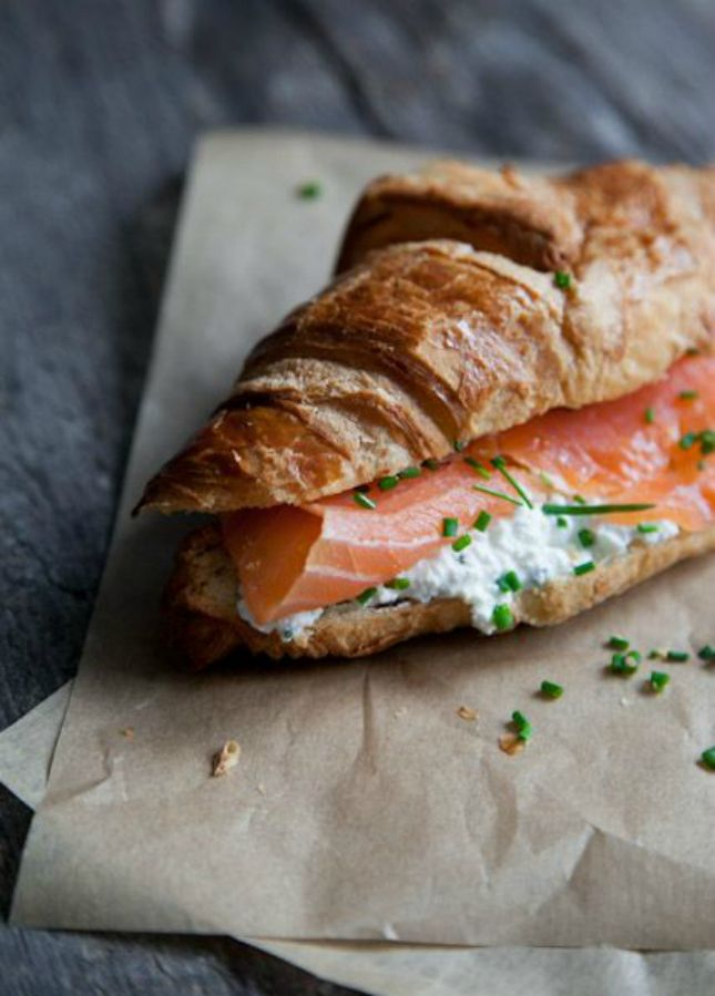 You need to make this Smoked Salmon Croissant Sandwich With Cream Cheese STAT.