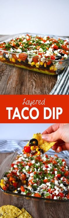 Enjoy this layered taco dip at a Superbowl party, barbecue, family get-together, or taco night at home   The Small Town Foodie