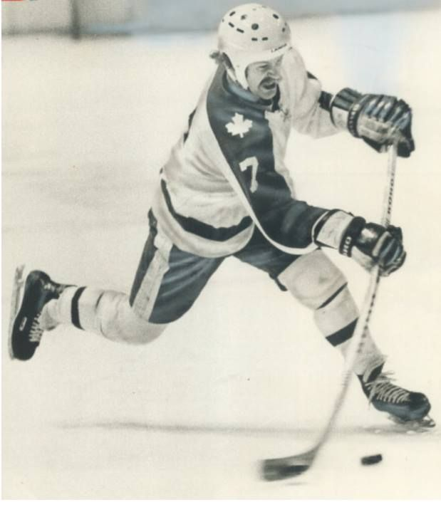 Lanny with the slap shot.
