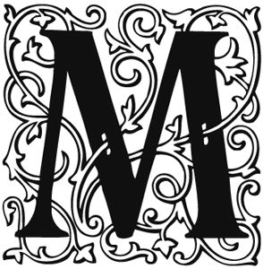 M: Paper Letters, Fonts Letters, Nice Letters, Letters M Illuminated, Art Ideas, A Tattoo, Letters Ideas, Calligraphy Projects, Free Caligraphy Fonts