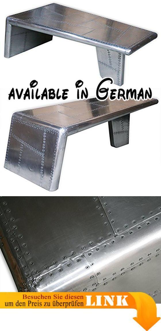 B00QXA3JTA KMH Couchtisch Wohnzimmertisch AIRCRAFT Aus Aluminum 64 X 140 Cm 202227 Spaciger Aluminium