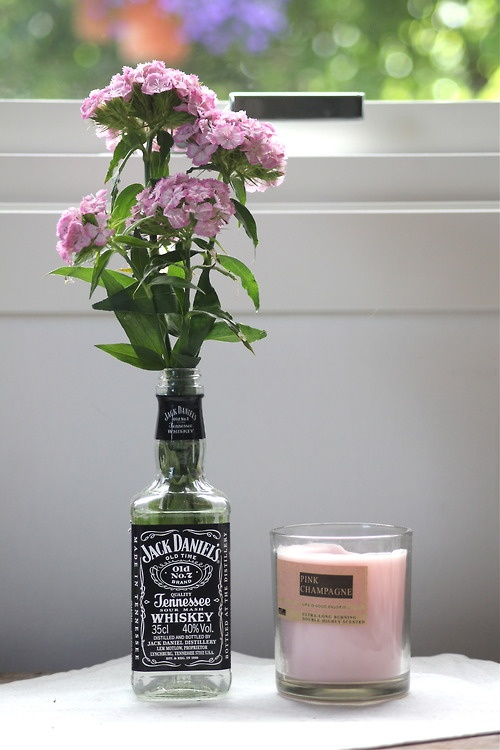 jack daniel's whiskey old bottle as vase | Projects to Try ...