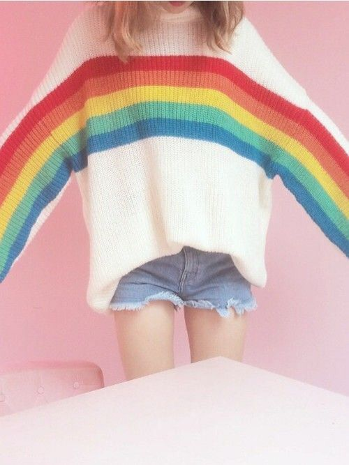 rainbow sweater!