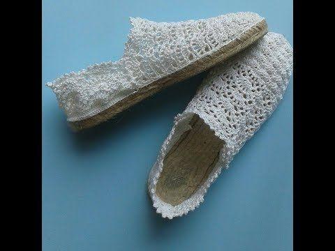 crochet tutorial sandalias alpargatas how to do (several lenguage)