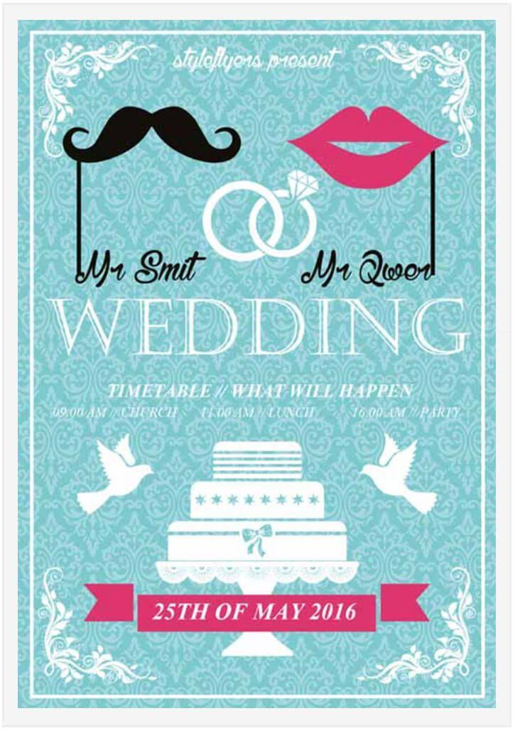 20 free wedding flyer templates in psd vector ai design desk