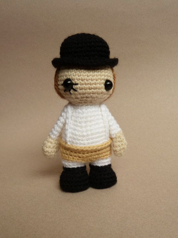 Alex amigurumi from A Clockwork Orange