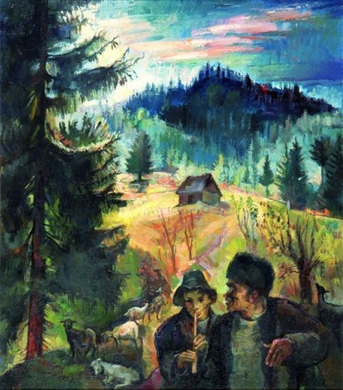 Zsögödi Nagy Imre (1893-1976) - Shepherds,1958