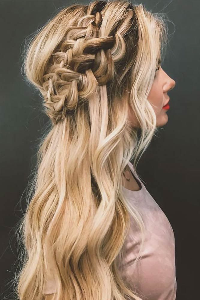 33 Cool Winter Hairstyles for the Holiday Season ★ Crowned Hairstyle for Winter Season with Long Hair Picture 2 ★ See more: http://glaminati.com/cool-winter-hairstyles-holiday/ #hairstyleideas #braidstyles #braidhair