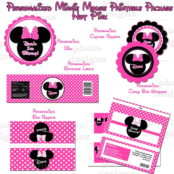 208 best Minnie Mouse 1st Birthday Theme images on Pinterest