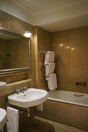 The bathroom was beautiful, and fully equipped for all of our needs.
