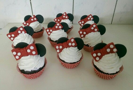 Minni Maus Cupcakes