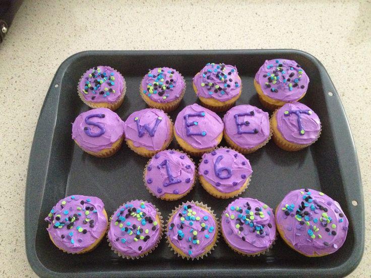 Sweet 16 cupcakes!!
