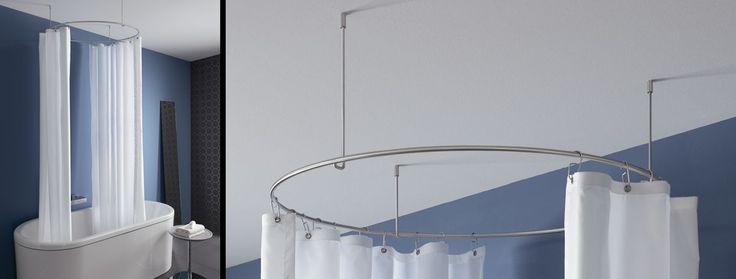 Duschvorhangstange gebogen als Kreis DR900