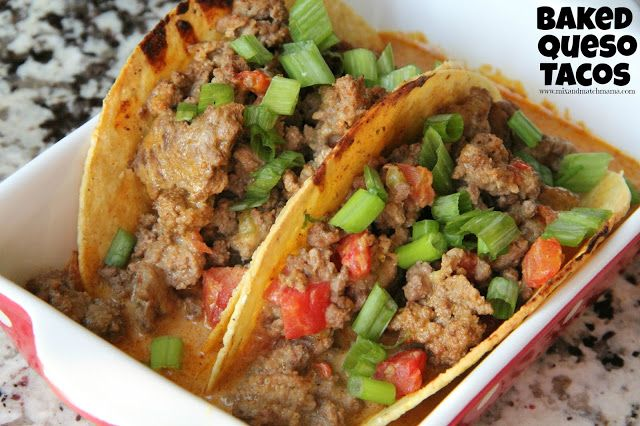 Baked Queso Tacos