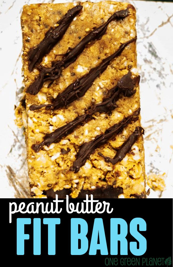 Peanut Butter Fit Bars http://onegr.pl/1ns8yYi #recipe #vegan #healthy #eatclean
