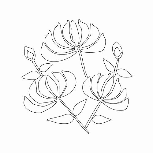 Lotus embroidery pattern from a public Korean collection of historical motifs and designs. #motif #freepattern #flower #embroidery #sewing #template #lotus #Korea #Korean