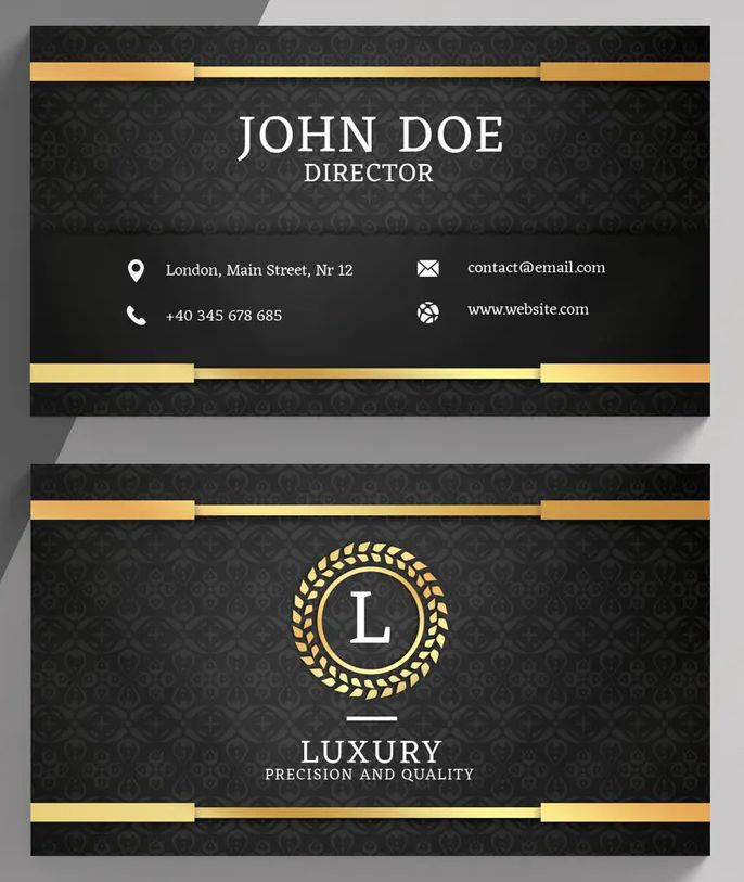 Luxury Golden Business Card Template By Eightonesixstudios On Envato Elements Luxury Business Cards Business Card Template Psd Business Card Template