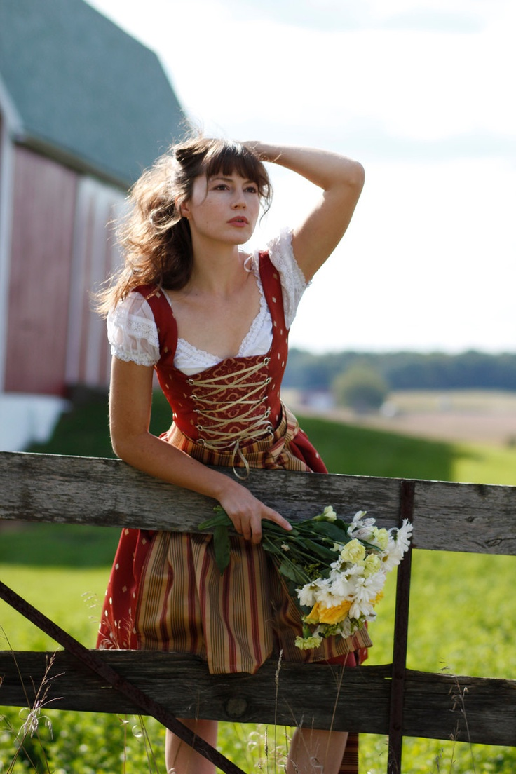 Sweet Summer Bavarian German Dirndl Dress by ClassicGermanClothes, via Etsy.