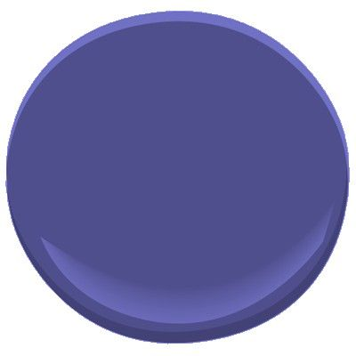 Scandinavian Blue Benjamin Moore- looks purple but is actually an electric blue