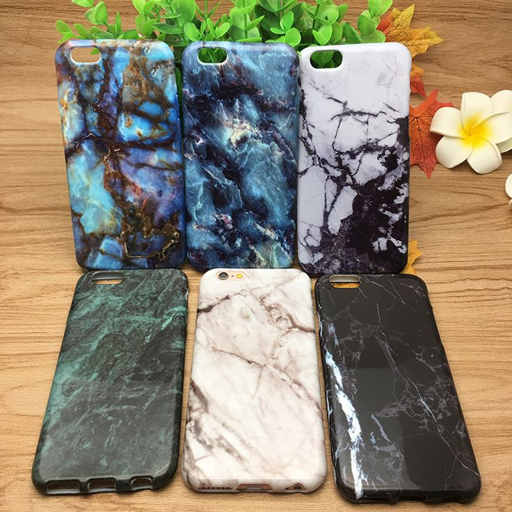 Phone Cases For iPhone 5 5s Soft Case Marble Stone Painted Back Cover Mobile Phone Bags & Case For iPhone 5 5s SE 6 6S 7 7 Plus