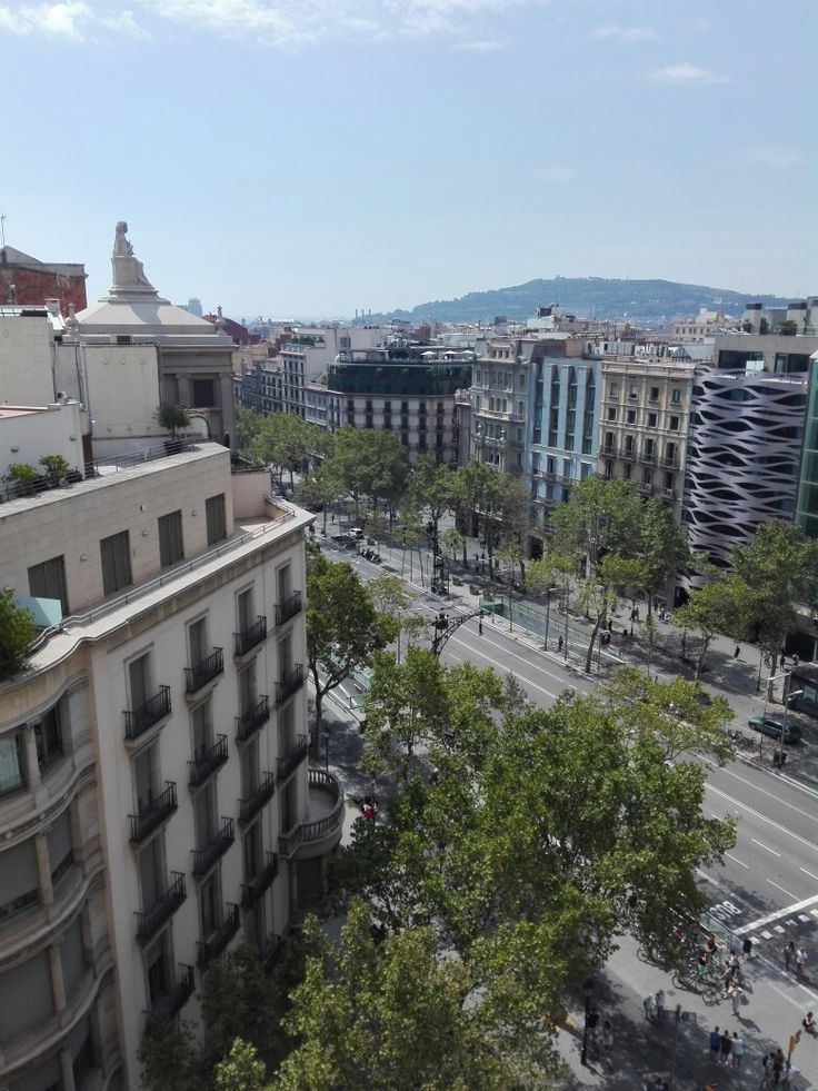 View from La Pedrera. Barcelona, Spain