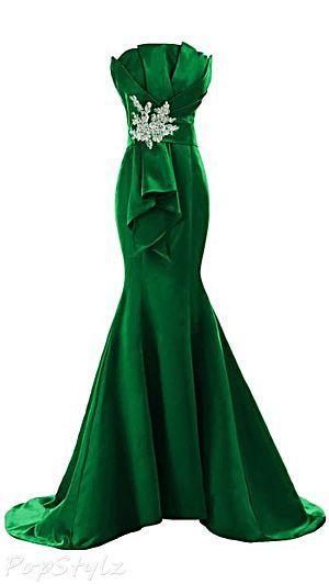 Floorlength Satin Evening Dresses