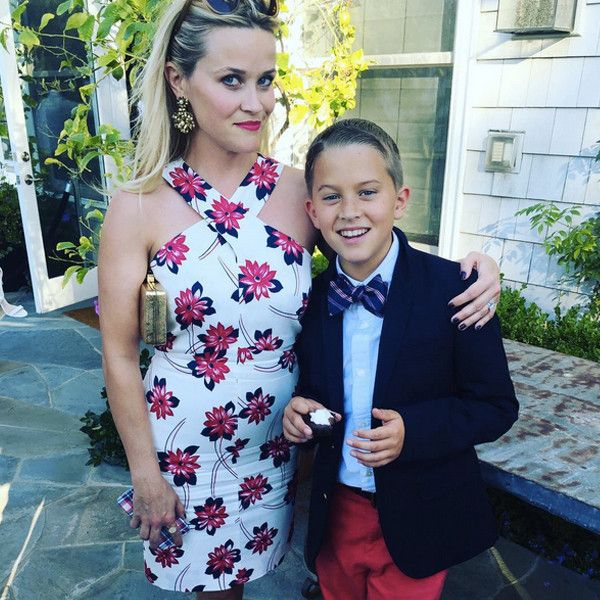 Reese Witherspoon's Mini-Me Son Deacon Is Quite the Stylish Gentleman on His 12th Birthday: See Him Looking All Grown Up With Mom | E! Online Mobile