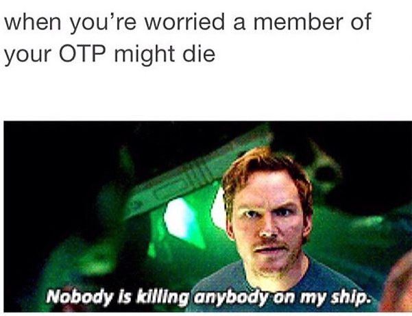 Don't touch my OTP. Don't.