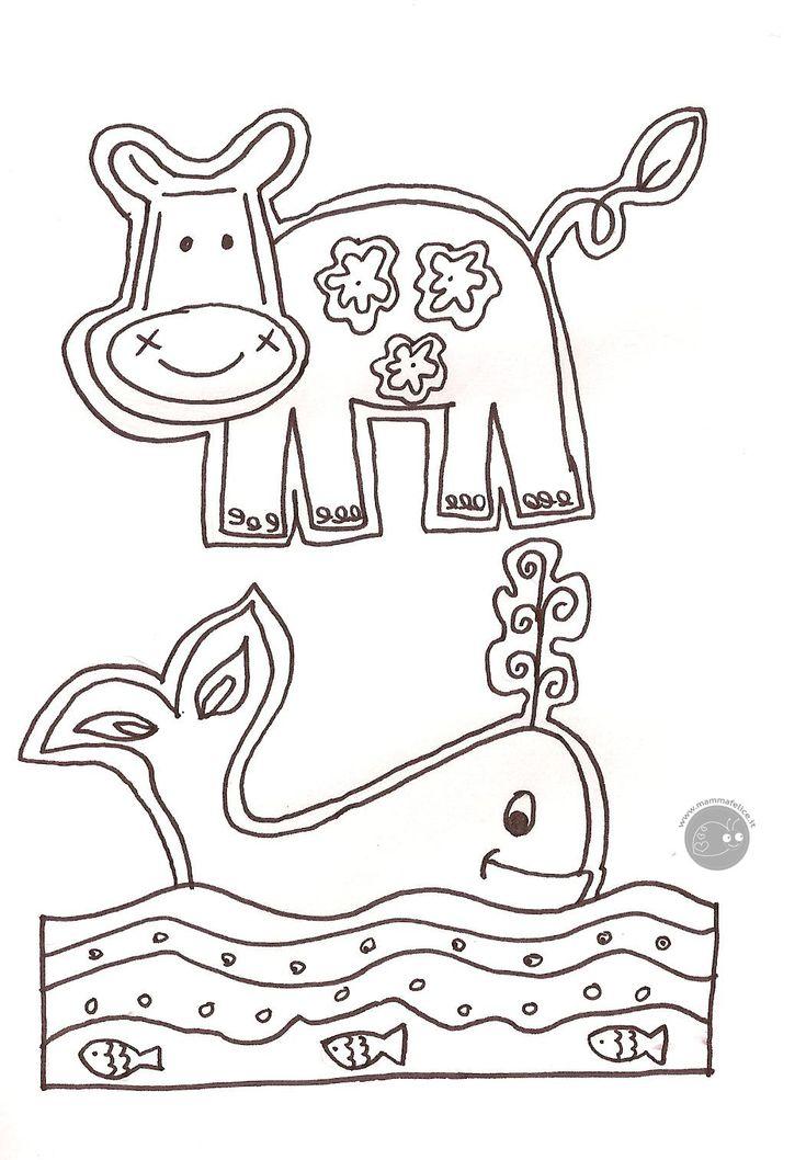 10 best animaletti per segnalibro images on pinterest for Maialino disegno per bambini