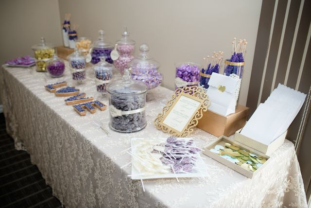 DIY Purple and Gold Candy Bar / Buffet