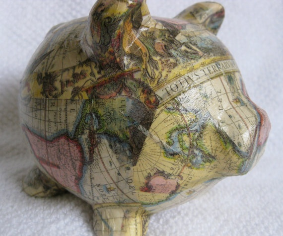 I love Piggy Banks especially a world map one!