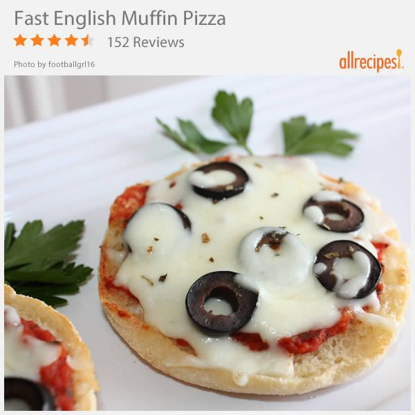 Fast English Muffin Pizza | Once you get a taste of how easy these are, you won't want to stop making them.