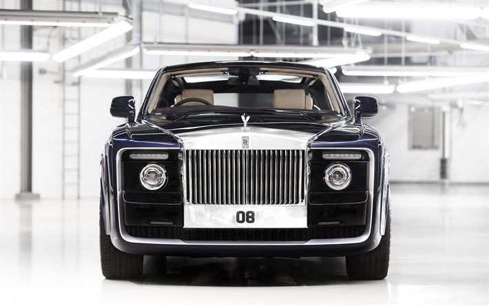 Rolls-Royce Sweptail, 2017, Front view, luxury car, Rolls Royce