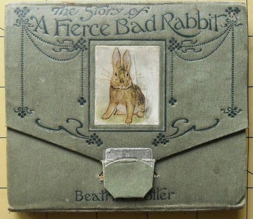 gorgeousnessss: BEATRIX POTTER 1ST EDITION 1ST ISSUE. CONCERTINA STYLE. FIERCE BAD RABBIT 1906