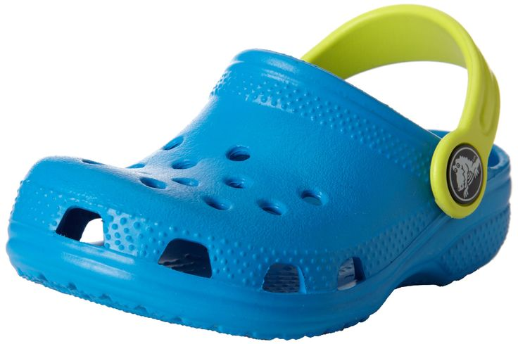 crocs Kids Classic Clog 10006, Ocean/Citrus, 4-5 M US Toddler 10-11 22,07