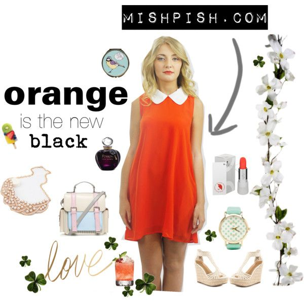 """Orange is the new black"" by mishpishboutiq on Polyvore"