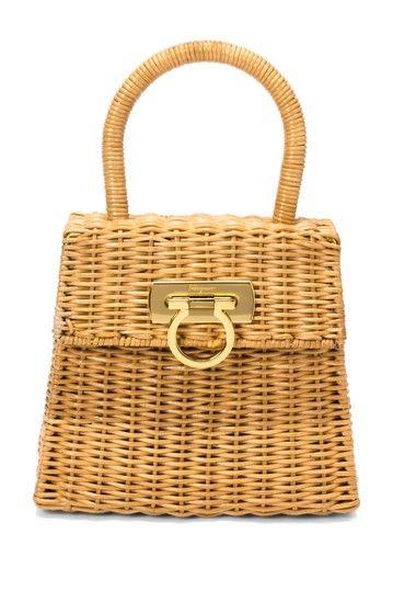 Vintage Ferragamo Wicker Bag... | Think Bag - Women\u0026#39;s Designer ...