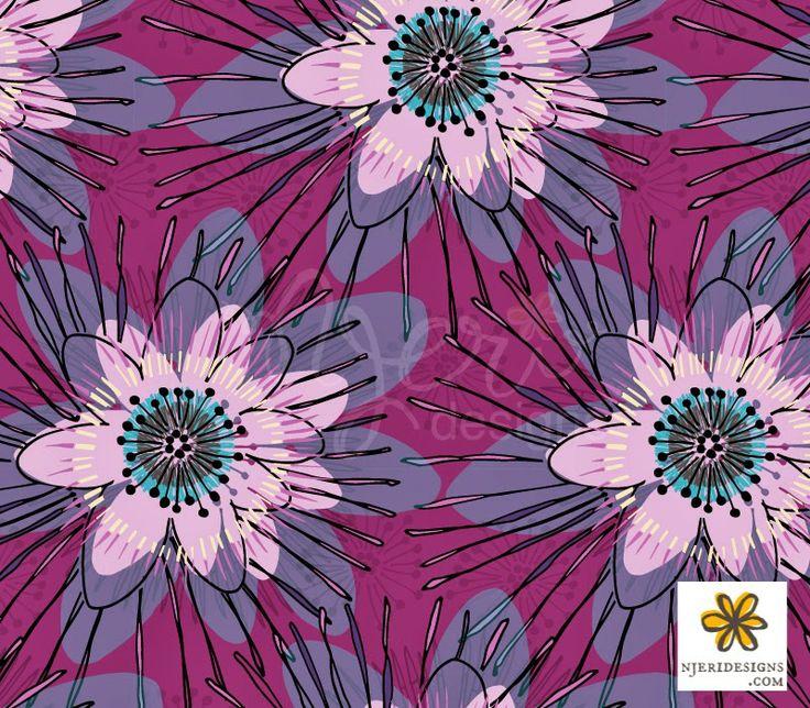 Njeri surface pattern design: Tropical Fusion -Blog hop 2014