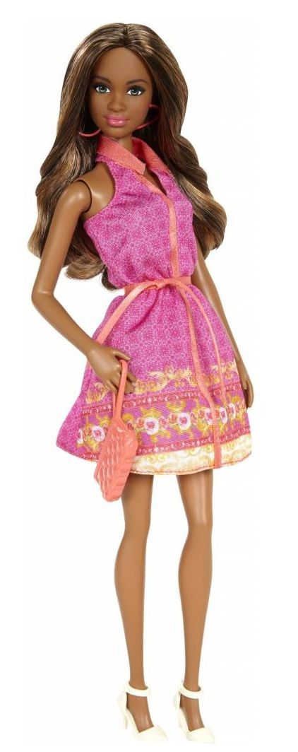 Barbie Fashionistas, Party Glam - Grace fashion Doll in pink sleeveless dress