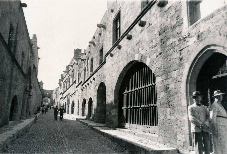 GOLDNER.Ρόδος, η Παλιά Πόλη, ο δρόμος των Ιπποτών, περίπου 1938