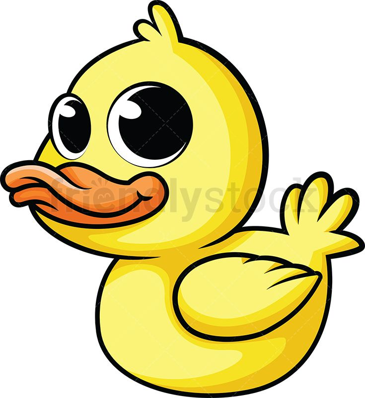 Cute Baby Duck Cartoon Vector Clipart Friendlystock Baby Ducks Duck Cartoon Cute Animals With Funny Captions