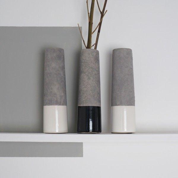 Dipped Concrete Vase