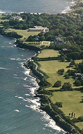Newport, Rhode Island's Cliff Walk combines ocean views, mansions, and a rocky shore line into a 3.5 mile walk.