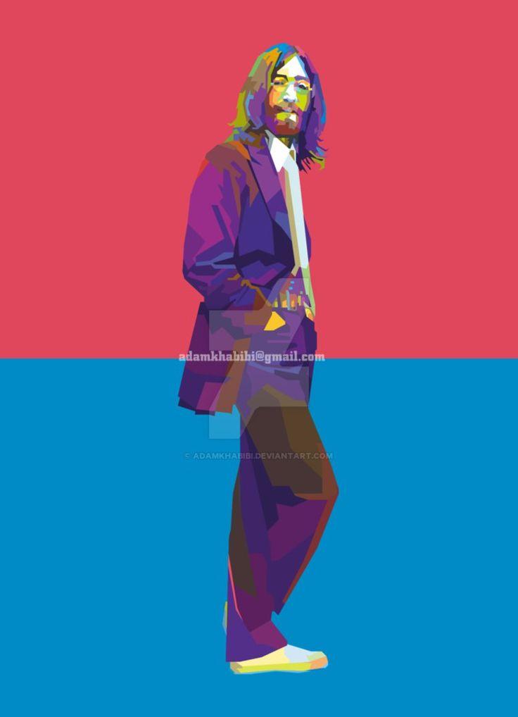 John Lennon in Wedha's Pop Art Portrait ( WPAP ) by AdamKhabibi