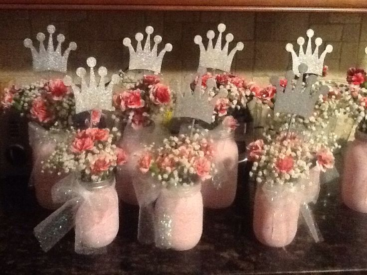 Tutus And Tiaras Baby Shower Centerpieces